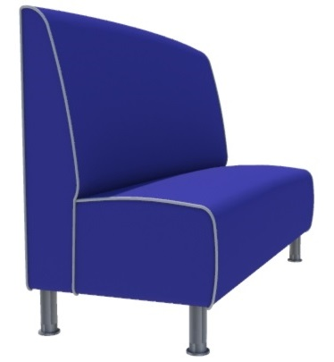 Montana Plain 3 Seater 1500mm Booth