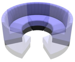 Round Booth Seating 1 8 Fluted Circle