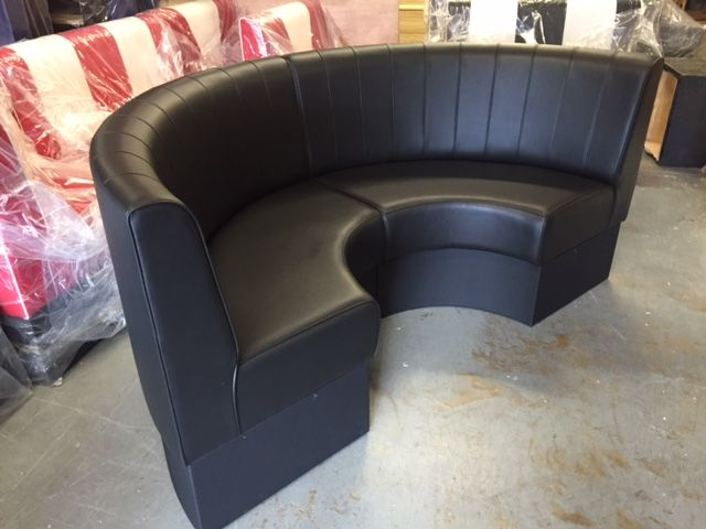 Round Booth Seating Small 1 2 Circle With Plinth Base