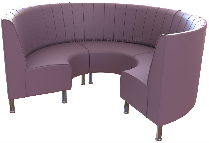 Exceptional Round Booth Seating   Small 3/4 Circle On Legs