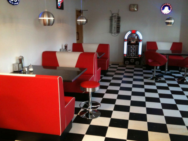 American diner retro booth sets 50s home decor uk