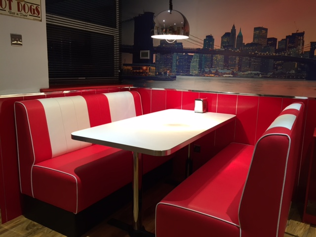 Retro seating booths and chairs diner furniture