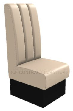 1 Seater Royale Deep Fluted and Roll Top - 450mm High Back Booth