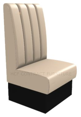 1 Seater Royale Deep Fluted and Roll Top - 600mm High Back Booth