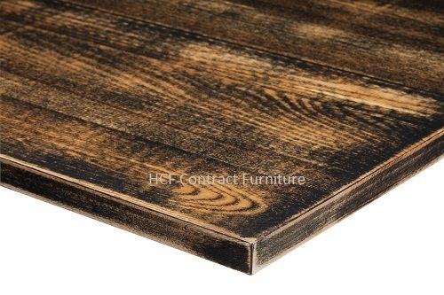 1000mm x 1000mm x 25mm thick Distressed Table Top -8 Colours