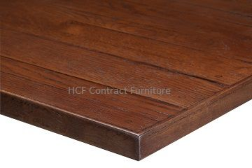 1000mm x 1000mm x 35mm thick Plank Table Top -3 Colours