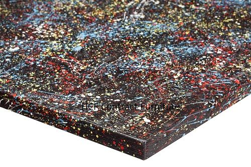 1000mm x 600mm x 25mm thick Jagged  Paint Table Top - 4 Colours