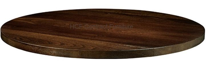 1200mm dia Round x 25mm Thick Solid Ash Table Top - Dark Walnut (P)