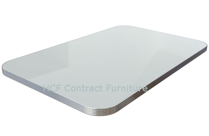 1200mm x 700mm American Diner Standard 30mm Thick Ribbed Edge Table Top