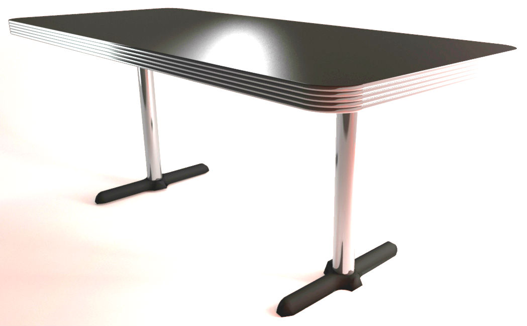 1500mm X 700mm American Diner Standard 30mm Thick Ribbed Edge Table Top