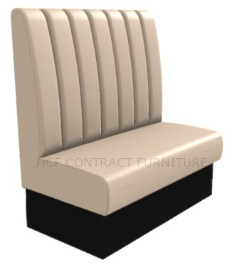 2 Seater Royale Deep Fluted and Roll Top - 1050mm High Back Booth