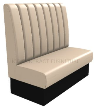 2 Seater Royale Deep Fluted and Roll Top - 1200mm High Back Booth