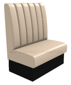 2 Seater Royale Deep Fluted and Roll Top - 900mm High Back Booth