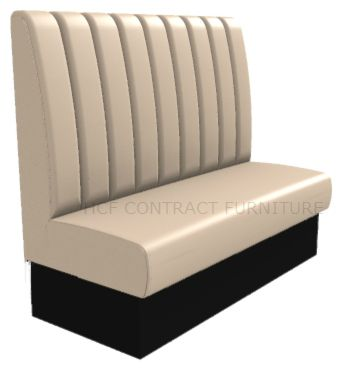 3 Seater Royale Deep Fluted and Roll Top - 1350mm High Back Booth