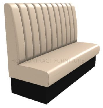3 Seater Royale Deep Fluted and Roll Top - 1650mm High Back Booth