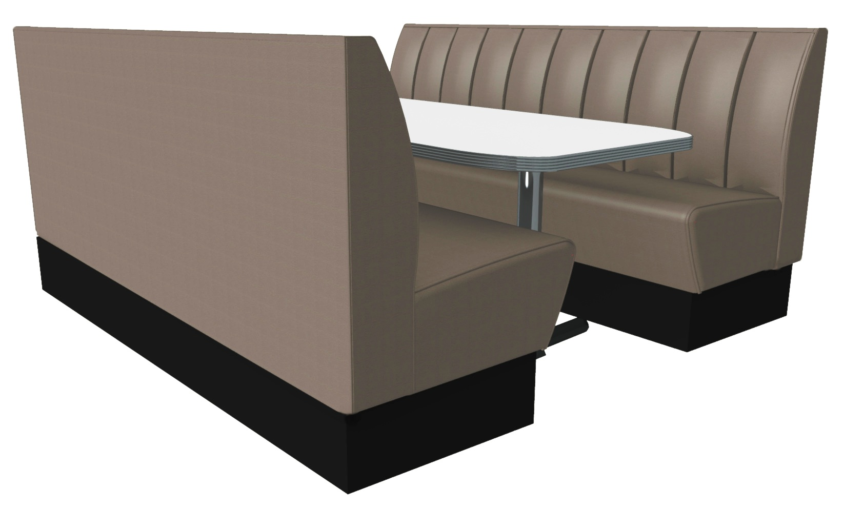 6 Seater Deep Fluted Booth Set