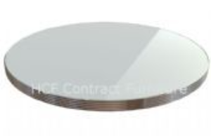 600mm Dia Round American Diner Standard 30mm Thick Ribbed Edge Table Top