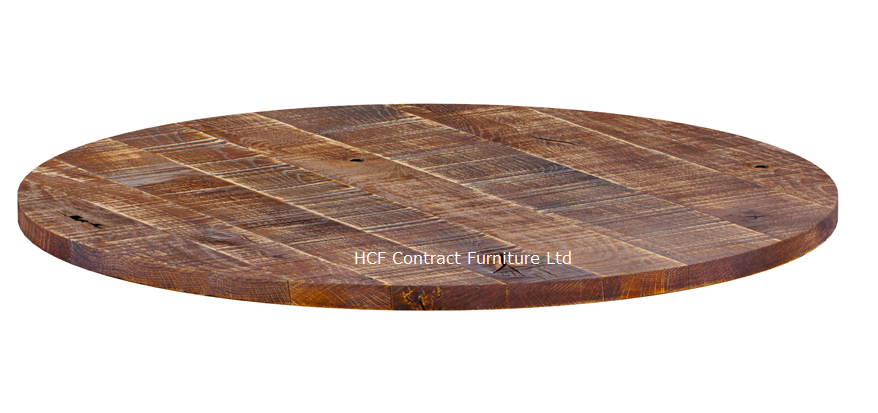 600mm Dia Round X 23mm Thick Rustic, Round Table Tops Uk