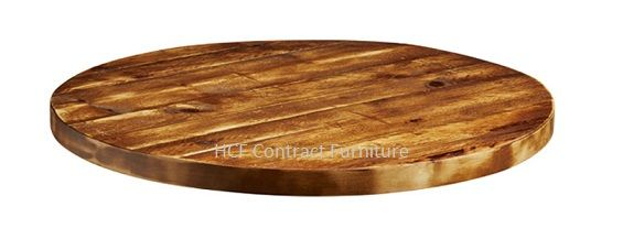 600mm Dia Round X 32mm Thick Aged, Round Wood Table Tops