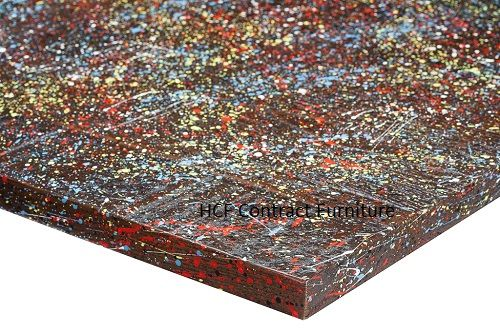 600mm x 600mm x 25mm thick Jagged  Paint Table Top - 4 Colours