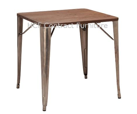 700mm x 700mm Gun Metal Grey Table (O)