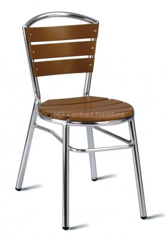 Amsterdam (NO WOOD) Side Chair-Brown (GL)
