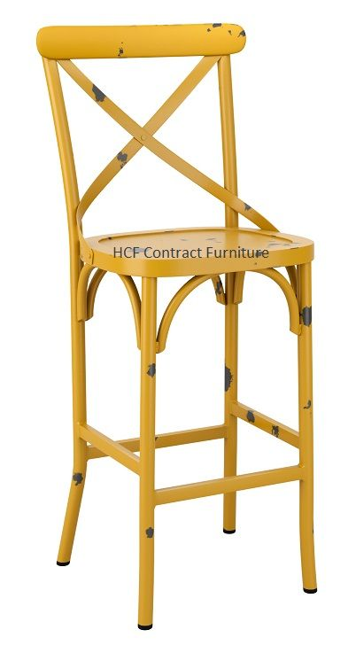 Beatrice Bar Stool - Vintage Yellow  (P)