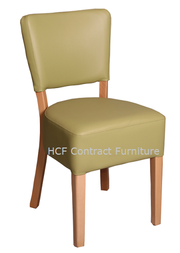 Canterbury Upholstered Side Chair - OAK  FRAME - Pistachio (K)