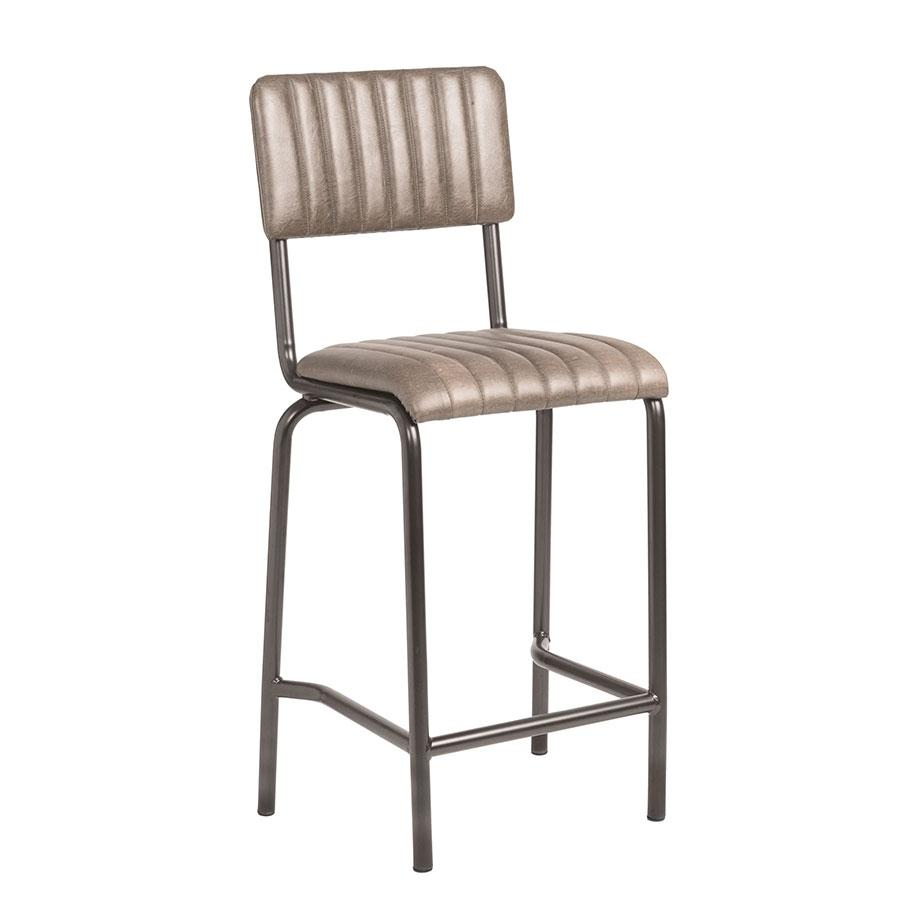 Fleming Mid Bar Stool Vintage Silver (P)
