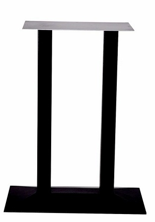 HCF 124P Black Cast Iron Rectangular Poseur Table Base (B)