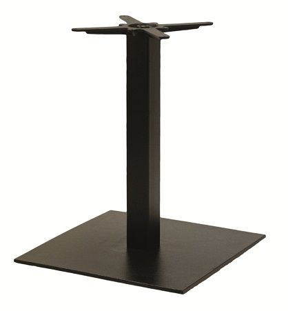 HCF 322D Black Iron Flat Square XL Dining Table Base (B)