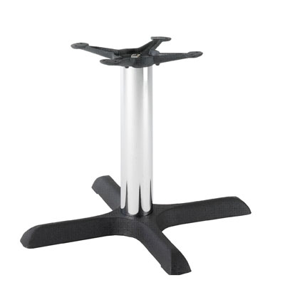 HCF 626Cc Black & Chrome Crucifix Small Coffee Table Base (B/O)
