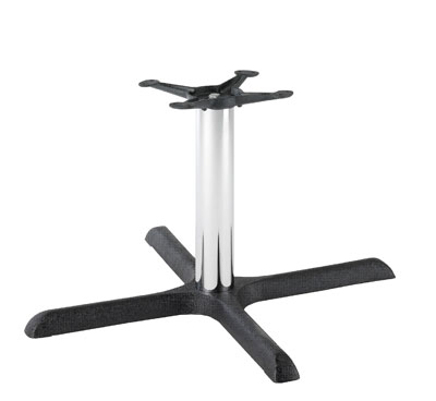 HCF 629Cc Black & Chrome Crucifix Medium Coffee Table Base (B/O)
