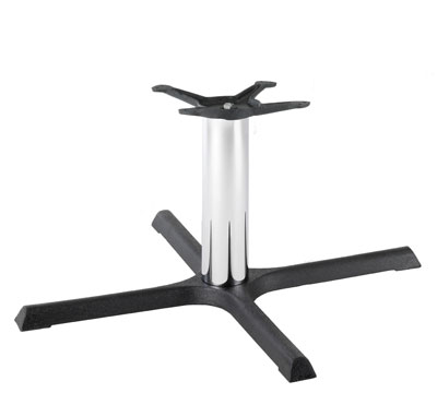 HCF 633Cc Black & Chrome Crucifix Large Coffee Table Base (B/O)