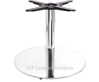 HCF 676Cc  Mirror Chrome Large Round Coffee Base (B)
