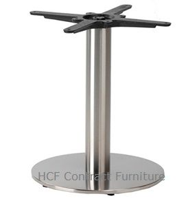 HCF 761Cc Small Round Stainless Steel Base - Coffee Height (O)