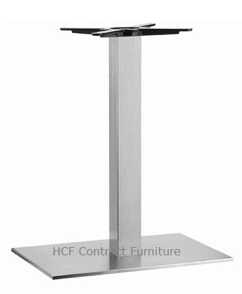 HCF 762Dc Single Rectangular Stainless Steel Base - Dining Height (O)
