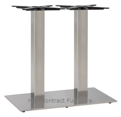 HCF 764Dc Twin Rectangular Stainless Steel Base - Dining Height (O)