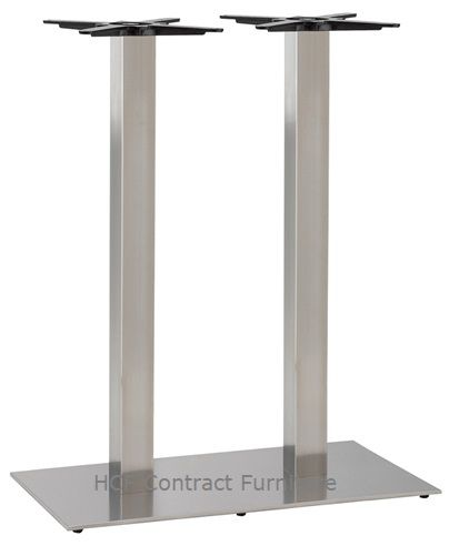HCF 764Pc Twin Rectangular Stainless Steel Base - Poseur Height (O)