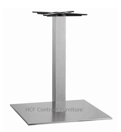 HCF 765Dc Large Square Stainless Steel Base - Dining Height (O)