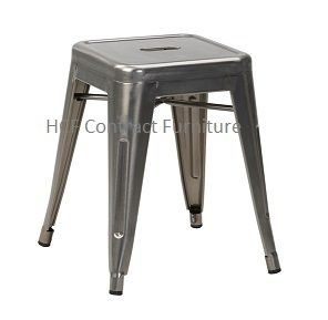 HCF 954 Bistro Low Stool-Gun Metal Grey-(O)