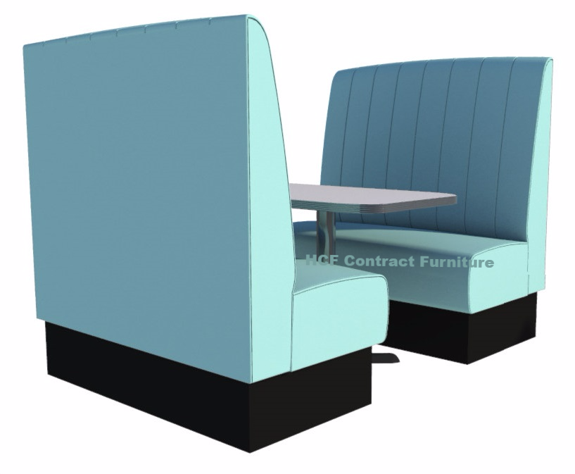 High Back Kansas Fluted 4 Seater Booth Set