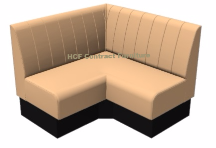 Kansas Fluted Extended Corner Seat - 1200mm Booth