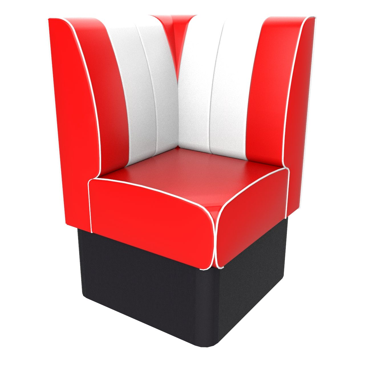 Kansas Retro Corner Booth Seat - 700mm x 700mm