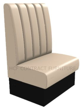 Large 1 Seater Royale Deep Fluted and Roll Top - 750mm High Back Booth