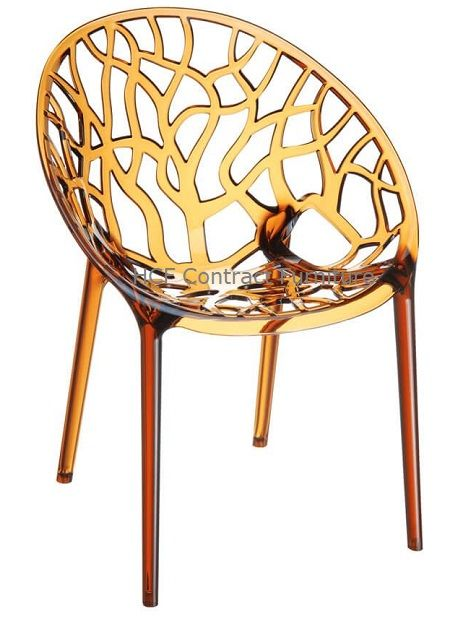 Marco Armchair - Amber Transparent (P)