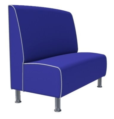Montana Plain 2 Seater - 1200MM Booth