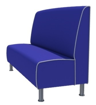 Montana Plain 3 Seater - 1650MM Booth
