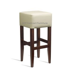 Newport Upholstered Bar Stool Dark Walnut - Ivory(Z)IN STOCK