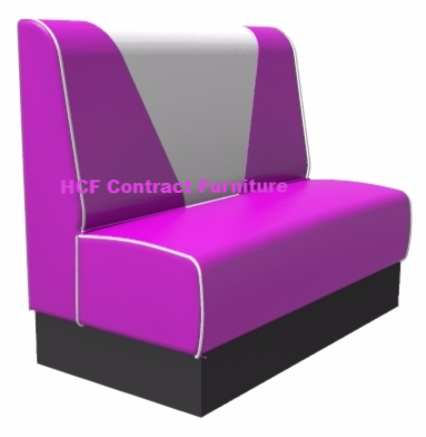Retro V Back Banquette/Booth Seating - Standard Height